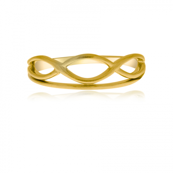 Yellow Gold Plated Sterling Silver Ring by Flow by Onatah