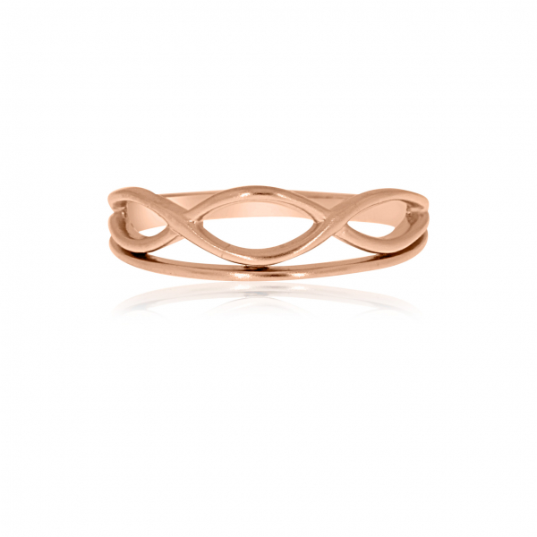 Rose Gold Plated Sterling Silver Ring by Flow by Onatah