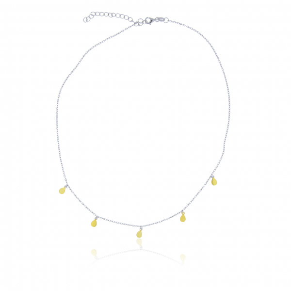Yellow Gold Plated Sterling Silver Necklace by Waterlily