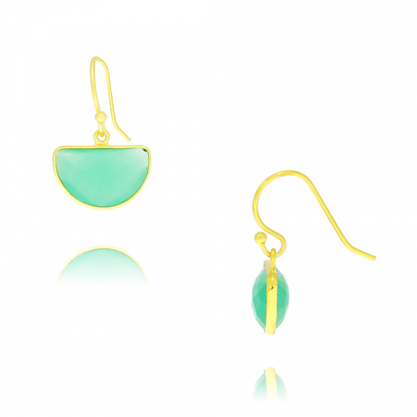 Yellow Gold Plated Sterling Silver Earrings by Waterlily
