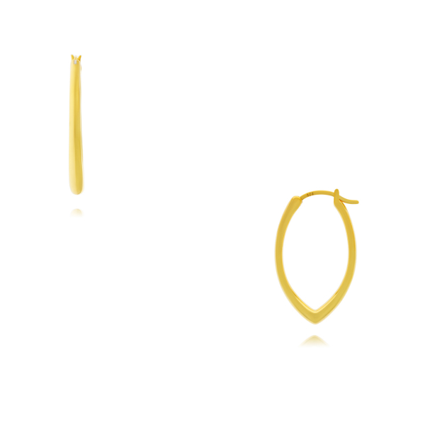 Yellow Gold Plated Sterling Silver Earrings by Flow by Onatah